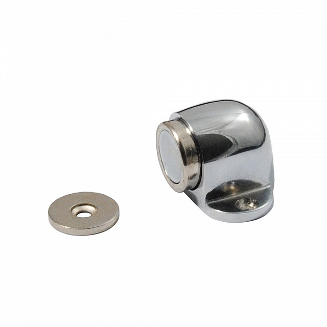 CHROME MAGNETIC DOOR RETAINER FLOOR SHELL